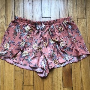 Silky Floral Shorts from Forever 21
